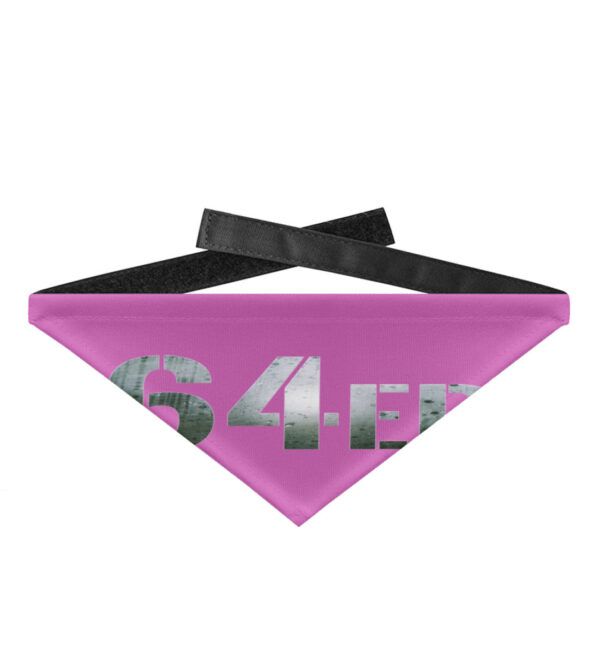 64er Logoprint Color - Hundehalstuch mit Klettverschluss-5759