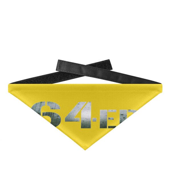 64er Logoprint Color - Hundehalstuch mit Klettverschluss-5766